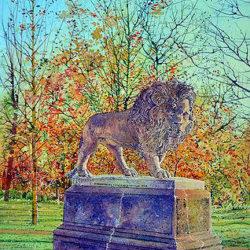 Lincoln Arboretum, Lion Statue