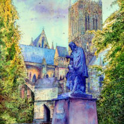 Tennyson Memorial, Catherdral Green, Lincoln