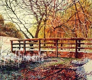 Footbridge, Hubbards Hills, Louth. A Winter Wonderland