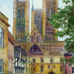 A view from Castle Square, Lincoln Cathedral