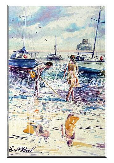 Beach combing, Humberston, (Cleethorpes)