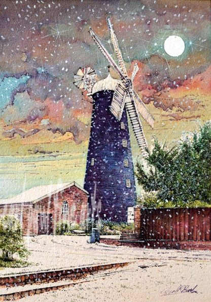 Snow Showers, Waltham Windmill