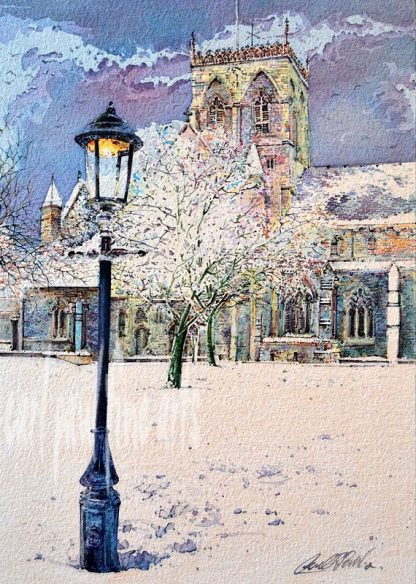 St.James Minster, a blanket of Snow, Grimsby
