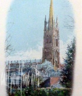 St James, Louth Tea Towel
