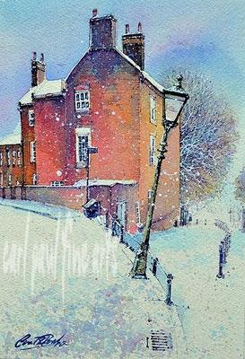 Steep Hill, Lincoln. Snowfall