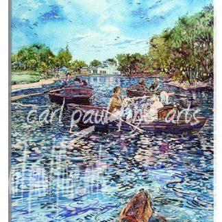 Summer time, Boating Lake, Cleethorpes
