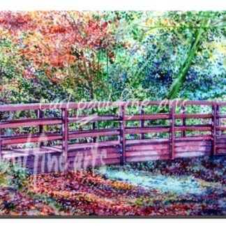 The Wooden Bridge, Hubbards Hills in Autumn, Louth
