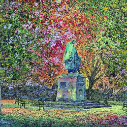 Tennyson Memorial, Autumn Leaves