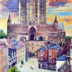 A view into Castle Square, Lincoln