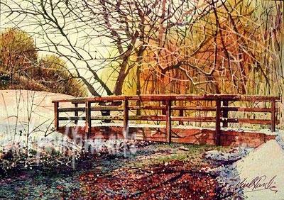 Footbridge, Hubbards Hills, Louth. A Winter Wonderland