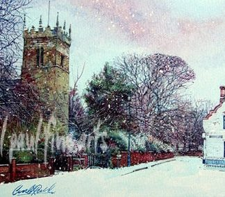 Old Clee Church, Grimsby, Christmas Morning
