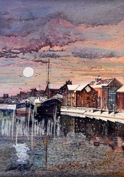 Alexandra Docks, Snowfall, Grimsby