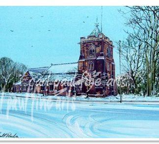 All Saints church, Christmas morning (Waltham)