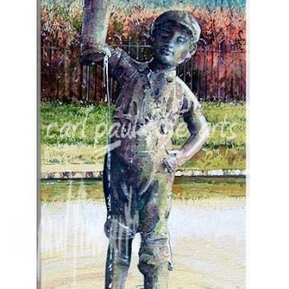 Boy with a leaking boot, Ripples in the pond