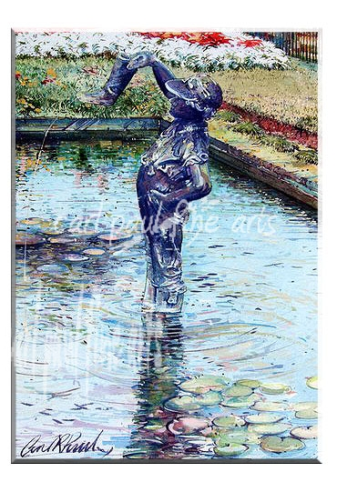 Boy with a leaking boot, Waterlilies