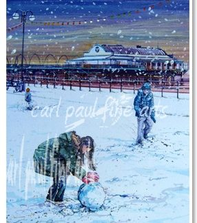 Building a Snowman (Cleethorpes Pier)