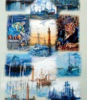 Grimsby Fishing Heritage Tea Towel