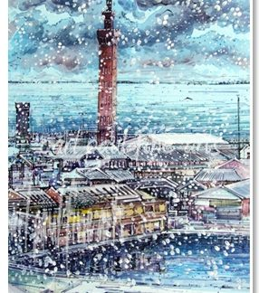 Grimsby Dock Tower, Snow Storm
