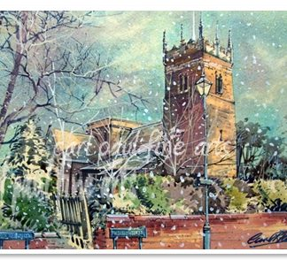 Old Clee Church, White Christmas, (Grimsby)