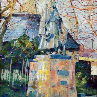 Tennyson Memorial, colours of Winter