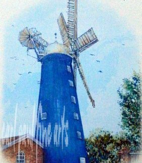 Waltham Windmill Tea Towel