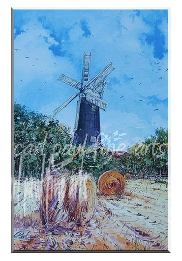 Wheat field, Waltham windmill