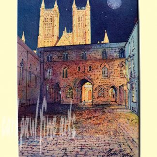 A full Moon, Exchequer gate, Lincoln