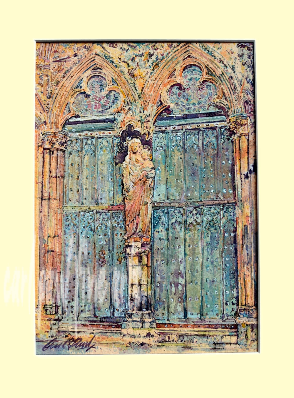 Lincoln Cathedral, Judgement Portal, Statue of the Virgin Mary Original