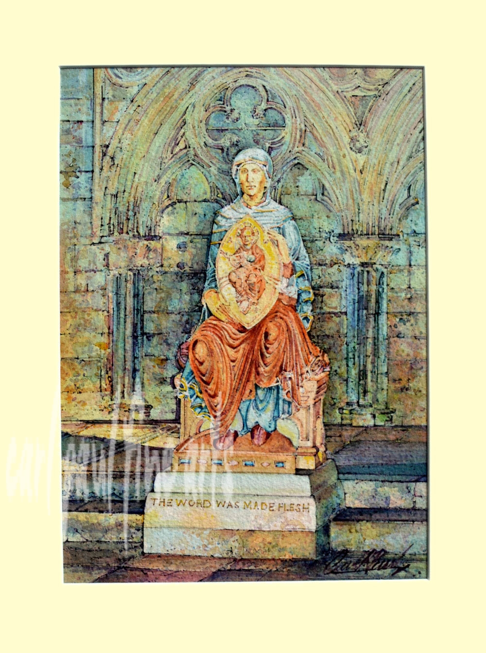 The Blessed Virgin Mary, Lincoln Cathedral