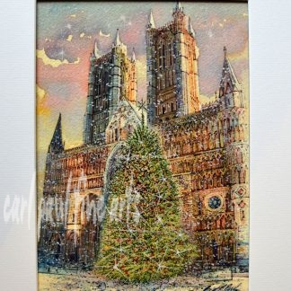 West Front Lincoln Cathedral Christmas Tree